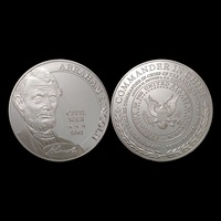 Free shipping and New items 10pcs/lot Lincoln Silver Plated Souvenior coins with capsule package