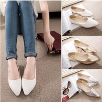 Free shipping 2014 spring and autumn shallow flat-bottomed shoes low-heeled shoes Women's shoes fashionable Flat Shoes