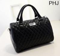 2015 Fashion designer handbag women Messenger bags mango black plaid bucket bag