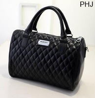 Fashion New PU Women Messenger Bags,Mango Plaid  Women Leather Handbags free Shipping