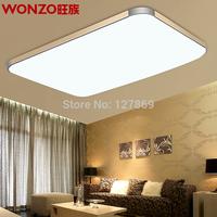Free Shipping 92X65CM 96W LED ceiling lamps modern minimalist living room bedroom den restaurant rectangular remote lighting