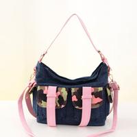new arrival casual shoulder bag women denim handbag messenger bags new brand