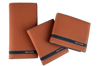 Factory wholesale Korean man brand leather purse personality commerce long wallet wallet card package