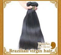 100% Unprocessed 4pcs/lot Brazilian Virgin Human Hair Weaves Straight FREE SHIPPING!