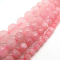 Natural Stone Beads6 8 10 12mm Madagascar translucent Smooth Pink Rose Quartz Round Crystal Semiprecious Bead for Bracelet HC664