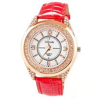 Hot Sale Casual Watch For Women Pu Leather Band Luxury Brand Rhinestone Quartz Analog Wristwatch Lady Clock Free Shipping Sr060