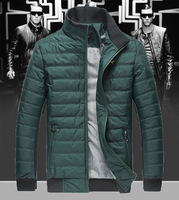 The new men's casual cotton winter coat collar men and thick warm coat free shipping support custom Slim