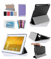 """OTG Cable+Stylus+Screen Protector+Luxury Ultra-thin Leather Case For ASUS Transformer Pad TF303CL TF303C 10.1"""" Tab,Free"""