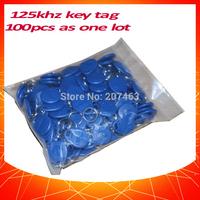 100pcs 125khz rfid keyfob  Proximity ID Token Tag Key TK4100 chip for access control