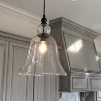 E27 Modern Bell Shape Glass Material Pendant Lights Lustre lampada Lantern Pendente Lampe Vintage Retro Lamp Home Lighting