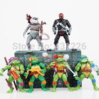 6Pcs Teenage Mutant Ninja Turtles TMNT Action Figures Toy Set Classic Collection