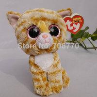 "IN HAND!  2014 Ty beanies Boo Cute Big eyes Animal ~Tabitha Cat~~Plush doll 6"" 15cm Stuffed TOY MINT~free shippin"