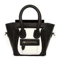 Hot 2014 Brand Design women handbags smiley bag quality PU leather women bag Euramerican women shoulder bag, women messenger bag