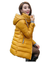 Free Shipping 2015 Women cold -season sale new winter warm down coat ,Korean Slim PU Faux Leather hooded windproof pakas