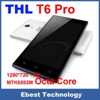 100% Original THL T6 Pro Android Smartphone MTK6592M Octa Core 1.4GHz 1GB RAM 8GB ROM 5 Inch IPS HD 3G 8MP Dual SIM CAM WCDMA