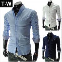 TUSS15007 2014  new arrival  fashional casual shirt for man,long sleeve male slim  men shirt  free shipping