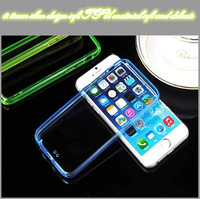 Wholesale iPhone6 mobile phone shell mobile phone sets of TPU  thin silicone transparent protective casing 4.7 inch