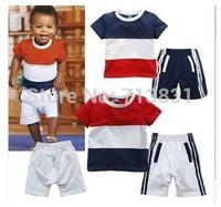 Retail Arrival short sleeve t-shirt +shorts baby Boy girl clothing sets children Leisure suit kids' Boys' T-Shirts sports wear