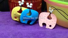 Nova venda elefante Silicone dentição colar do grânulo grátis frete - limited edition à prova de água de borracha qualidade alimentar do bebê mãe(China (Mainland))