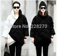 J&Free Shipping European Fashion Patchwork Think Parkas Women's Outerwear Down Winter Coat Jacket Women 2014