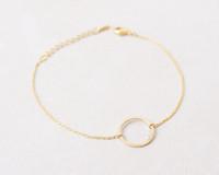 Gold/ Silver/ Pink Gold Open Circle Bracelet