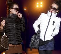 Plus Size XXXL 2014 autumn and winter new Women Slim cotton padded shoulder Jacket Coat Women Down Outwear Jacket