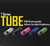Free shipping-2014 new Original Nitecore TUBE mini light torch micro USB charging flashlight 45 lumens keychain USB rechargeable