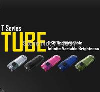 Free shipping-2014 new Original Nitecore TUBE mini light torch micro USB charging flashlight 45 lumens keychain USB rechargeable