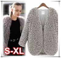 Newest Fashion Women Autumn Coat Europe America Style High Street Wool Blends Faux Fur Ladies Elregant Jacket Casual Overcoat