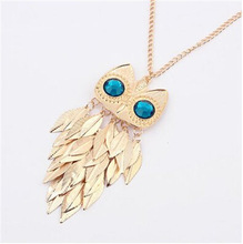13 styles girl s Korean Jewelry Retro Owl Necklace long Paragraph Sweater chain Free Shipping
