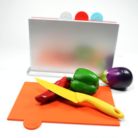 New Style Chopping Board 4Pcs/set +1holder Colored Chopping Board Set Kitchen Tool Ktchen Board Free Shipping