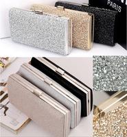 Woman Evening bag Women Diamond Rhinestone Clutches Crystal Day Clutch Wallet Wedding Purse Party Banquet Black/Gold/Silver