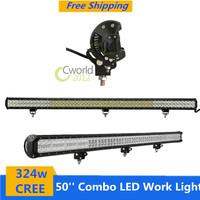 New 50 inch 108x3w Cree Combo 324w LED Work Light Bar for Off-road vehicle car ATV UTV SUV truck engineering vehicle