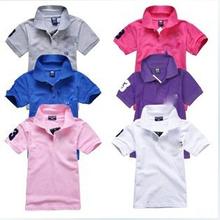 promozioni ! 2-14 anni estate bambini di polo del ragazzo della camicia dei vestiti 100% cotone a maniche corte bavero della camicia dei ragazzi vestiti(China (Mainland))