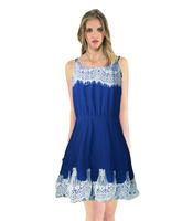 Women Pleated Slip Casual Dress Gallus Chiffon Minidress Lace Party Off Shoulder Sleeveless Free Shipping