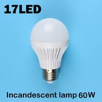 E27 17LEDS SMD 5730 (Incandescent lamp 60W)  220V - 240V Warm white cold white led lamp