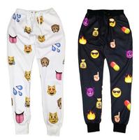 Free Shipping new men/women jogging pants print cartoon emoji fashion gym running sport sweatpants men autumn/winter joggers