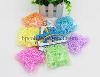 MIN ORDER AMOUNT $10.0   hot sell plum flower shape new loom bands rubber bands (300PCS rubber band +12 PCS S + 1 hooks )