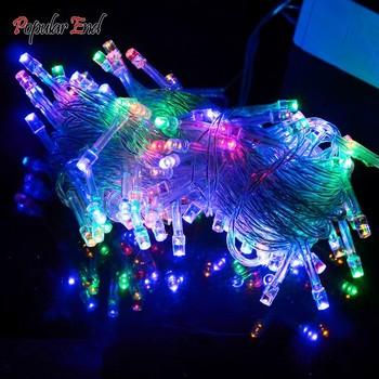 10 м 100 из светодиодов красочные декоративные строка свет на рождество ну вечеринку фестиваль гирляндой высокое качество b4