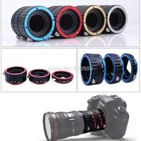 NEW 2014 RED Metal Auto Focus AF Marco Extension Tube/Ring Set 31mm 21mm 13mm for Canon EF Camera Lens 550D 650D 600D 60D 5D2