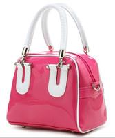 2014 fashion women bag candy color Leather Shoulder handbag small jelly bag