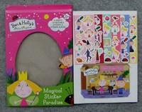 Free shipping children educational toys cartoon boy girl sticker /Magical sticker paradise / sticker album / Ben Holly