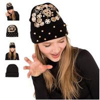 Cheap Online Spikes Beanie Hat Wool Winter Warm Knitted Caps Hats For Man Women Punk Skullies Cool Beanies Unisex Hats AY852054