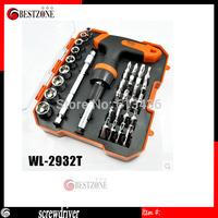 Free Shipping 32pcs screwdriver set, Multifunctional screwdriver. computer and mobile phone repair tool