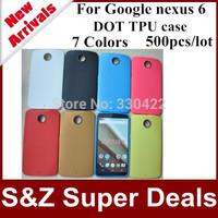 500pcs Best service phone cases Slim Durable Back Cover Bag Honeycomb Dot Style Luxury TPU Case for motorola moto Google nexus 6