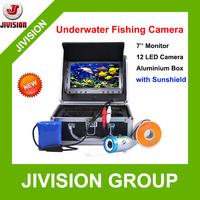 "Sunshield 7"" TFT LCD Fishing Camera Kit Fish Finder 800TVL Underwater Video Camera System 12pc light Night Vision Fishing Finder"