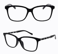 2014 New Fashion Glasses Women Eyeglasses Frame Black Eye Glasses Vintage Flat Eyewear Frames Brown Leopard Red Spectacles D008