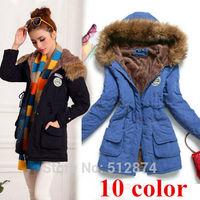plus size XXXL winter down jackets 2014 high quality brand women parka women winter coat women winter lambs wool cotton jacket