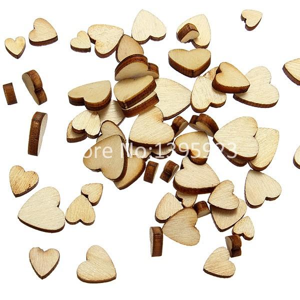 60Pcs App 0.5/0.7/0.9/1.1cm Style Mini Love Heart Wooden Scrap Booking Craft Card Wedding Decorating Free Shipping(China (Mainland))