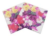Food-grade Floral Paper Napkin Flower Event & Party Tissue Napkin Supply Decoration Paper 33cm*33cm 1pack/lot
